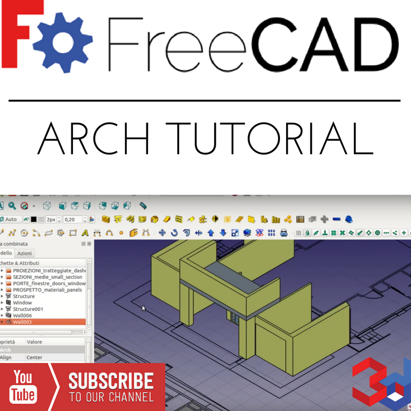 Freecad ARCH tutorial